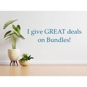 Receive a big discount when you bundle 3+ items